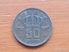 BELGIUM BELGIE 50 CENTIMES 1958 BÁNYÁSZ