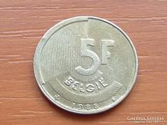 BELGIUM BELGIE 5 FRANK 1986