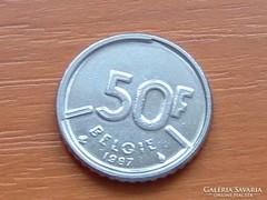 BELGIUM BELGIE 50 FRANK 1987