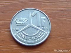 BELGIUM BELGIQUE 1 FRANK 1991