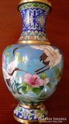 Gyönyörű kézzel festett tűzzománc váza
