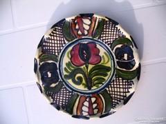 LEÁRAZVA! 16 cm-es Tófalvi korondi tányér rácsos mintával 1.