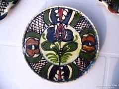 LEÁRAZVA! 13 cm-es Tófalvi korondi tányér rácsos mintával
