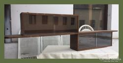 Art deco,üveges fali polc,különleges formájú