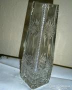 Antik  kristály váza 19 cm