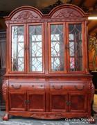 Gyönyörű vitrines tálaló szekrény!