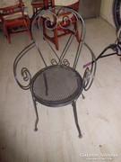 Tiffany kovácsoltvas szék