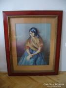 Kassai varga festmény, Fejkendős nő