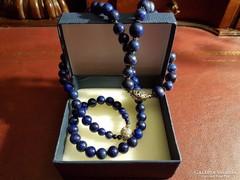 Lapis lazuli nyaklánc + karkötő szett