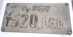 Régi Retro Gy SEV Vasúti táblák, lámpák, relikviák (AA-03)