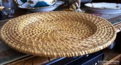 Indonéz kézműves tál, tányéralátét