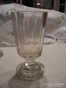 Biedermeier csiszolt /hámozott/ üvegpohár, 19. sz.