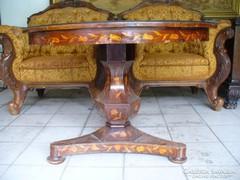 Biedermeier intarziás asztal