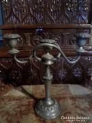 Gyönyörű , ezüstözött gyertyatartó   kb 27x27 cm