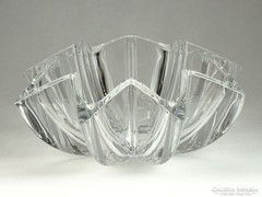 0G208 Hatalmas üveg gyümölcskínáló tál 29.5 cm