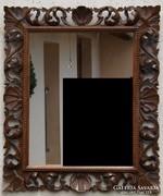 Florentin stílusú faragott fa keretű tükör
