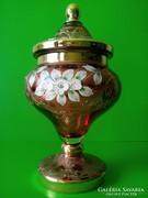 Antik Bohémia fedeles üveg kehely