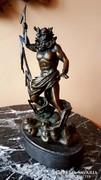 Zeusz bronz szobor