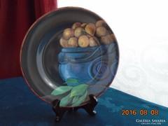 Festményszerü-francia-Gien majolika  tányér-22 cm