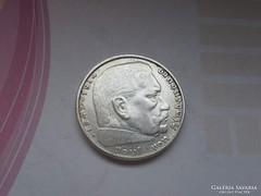 1938 B III. birodalom ezüst 2 márka ritkább verde