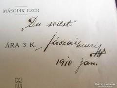 JÁSZAI MARI : TÜKRÖM 1901 MŰVÉSZNŐ SAJÁT KEZŰ ALÁÍRÁSÁVAL
