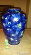 Wallendorf kobald festésu règi váza 31cm magas 21 cm atmeroje hibatlan allapotban van