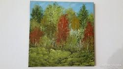 Az erdőben, vászon olajfestmény