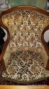 Antik barokk 2 darab fotel