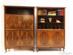 Intarziás chippendale irodai szekrények