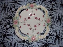 Antik majolika süteményes tányér (E01)