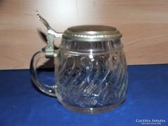 Eredeti BMF öntött üveg fedeles sörös krigli