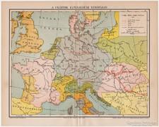 A cigányok elterjedése Európában 1894, eredeti, antik