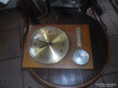 Fali óra és hőmérő barométer