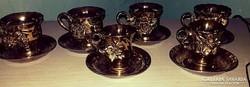 Rokokó stílusú teás + kávés csészék