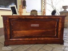 Antik bútor, Biedermeier íróasztal felújított, intarziás.