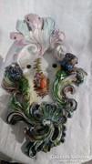 Porcelán fali gyertyatartó