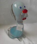 Muránói üveg kutya szobor