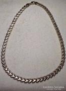 Mintás ezüst nyaklánc nyakék 925