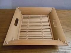 Bambusz tál/tálca 26*26*6 cm