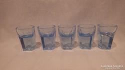 5 db kék üveg likőrös pohár ( ami mindig hiányzik )