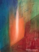 Kortárs absztrakt festmény a művésztől - Fény