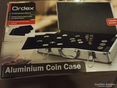 Ordex alumínium érmetartó bőrönd 205 érmének!