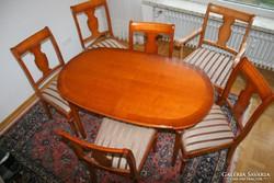 Warrings Salzburg étkezőasztal 6 szék ebből egy karosszék