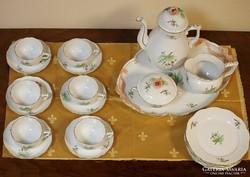 6 szem.herendi teás-kávés,süteményes készlet/csipkebogyó/