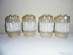 Retro üveg csillár lámpabúra lámpabura - 1960-as évek - 4 db