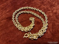 Sodrott 14K arany nyaklánc