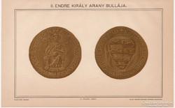 II. Endre király arany bullája, Pallas színes nyomat 1895