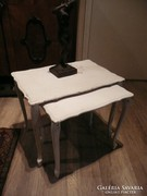 2 db antik chippendale egymásba rakható asztalka