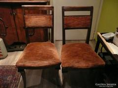 2 db gyönyörű biedermeier szék eladó szép állapotban