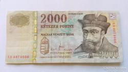2007 évi kiadású  2000.-Ft-os bankjegy